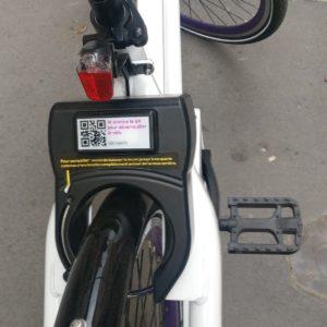 Indigo Weel - QR Code sur le vélo